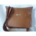 Hermes Jypsiere in Gold color in Togo leather size 34 with Palladium hard ware in second condition stamp #O