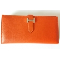 Bearn Wallet in Feu Color in Mysore Leather with Palladium Hardware in New Condition