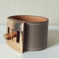 Kelly Dog in Etoupe Color in Swift Leather with Rose Gold Hardware in New Condition
