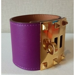 Kelly Dog Extreme in Anemone Color in Swift Leather with Gold Hardware in New Condition