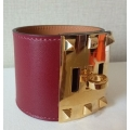 Kelly Dog Extreme in Rouge H Color in Tadelakt Color with Gold Hardware in New Condition