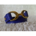 Bracelet Baby Pavane Bleu Electrique size XS in Epsom leather with Gold hard ware in brand new condition