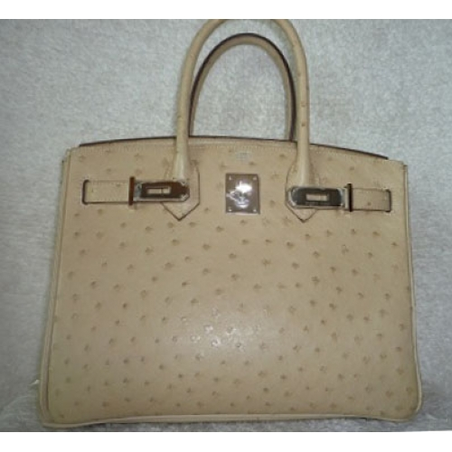 74883f68c139 Birkin size 30 in Parchemin Color Ostrich Leather with Palladium Hardware  in Second Condition Stamp  O