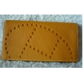 Wallet Evelyne in Moutarde (Yellow) in Mysore Leather in New Condition