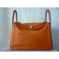 Lindy in Orange size 30 in Swift leather with Palladium hardware in second condition