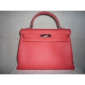 Kelly in Rose Jaipur color size 32 in Clemence leather with Palladium hardware in brand new condition