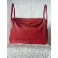 Lindy Red 34 Clemence Palladium hw New