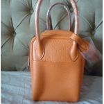 Lindy size 26 Eclat in Orange Moutarde Interior in Clemence Leather in Palladium Hard ware in New Condition Stamp P