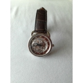 Men's Squelette Watch in Havane Color with Croco Strap in New Condition