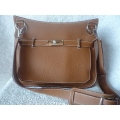 Hermes Jypsiere size 34 in Gold Clemence Leather with Palladium Hardware in New Conditon