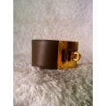 Kelly Dog in eucalyptus in swift leather with gold hard ware brand new