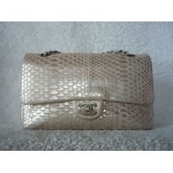 Chanel Medium in Gold Phyton with Gold Chain Second