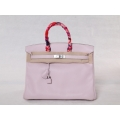 Birkin size 35 in Rose Dragee Color in Swift Leather with Palladium Hardware in Second Condition