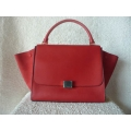Celine Trapeze Red Grained Gold hw in new condition