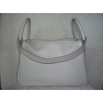 Lindy size 30 in Gris Perle (Pearl Grey) in Swift Leather with Paladium Hard ware in Second Condition Stamp #O